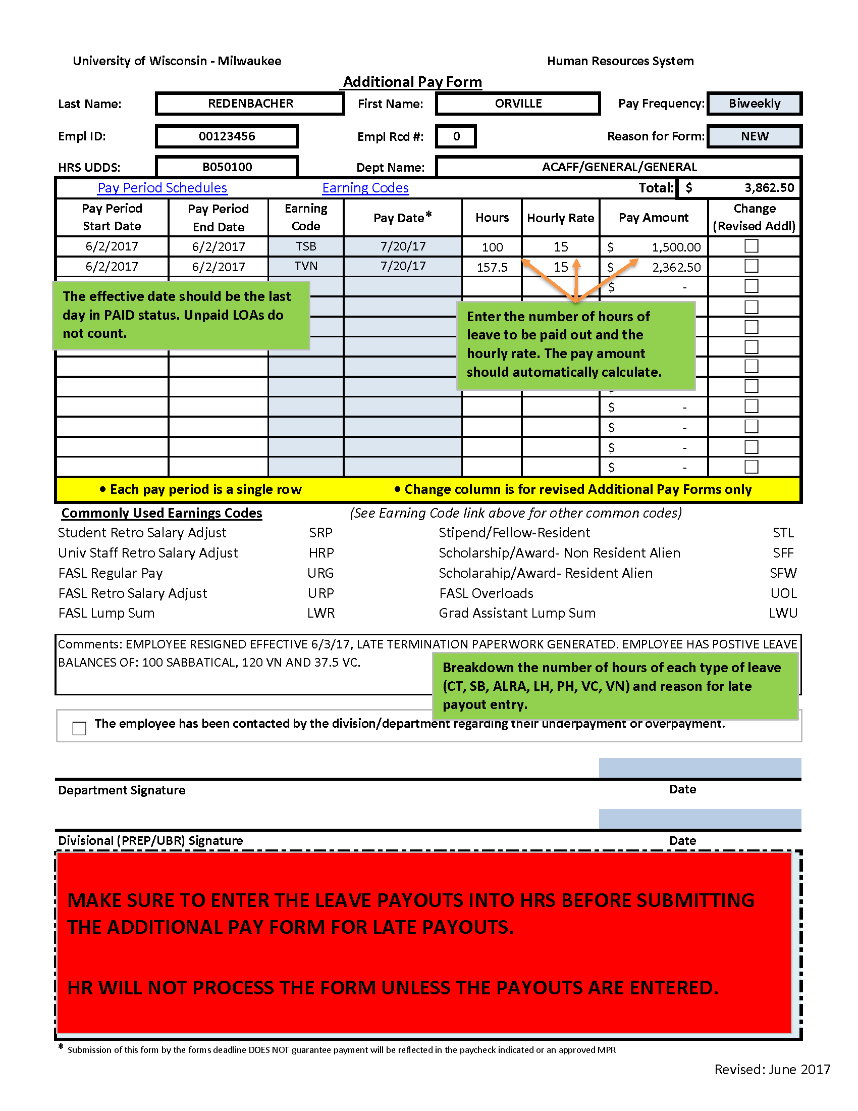 Leave_Payout_Biweekly Tax Deduction Letter Template on student loan, rental property, employee payroll, donation list, full list, truck driver, mortgage interest, charitable donations, self employment,