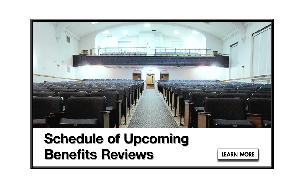 Schedule of Upcoming Benefits Reviews