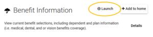 Benefit Information app