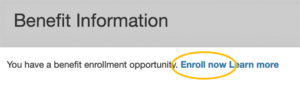 Benefit Information app Enroll now link