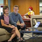 Ann Petrie, president and CEO of Ronald McDonald House Charities of Eastern Wisconsinand UWM junior Breyley Stephenson