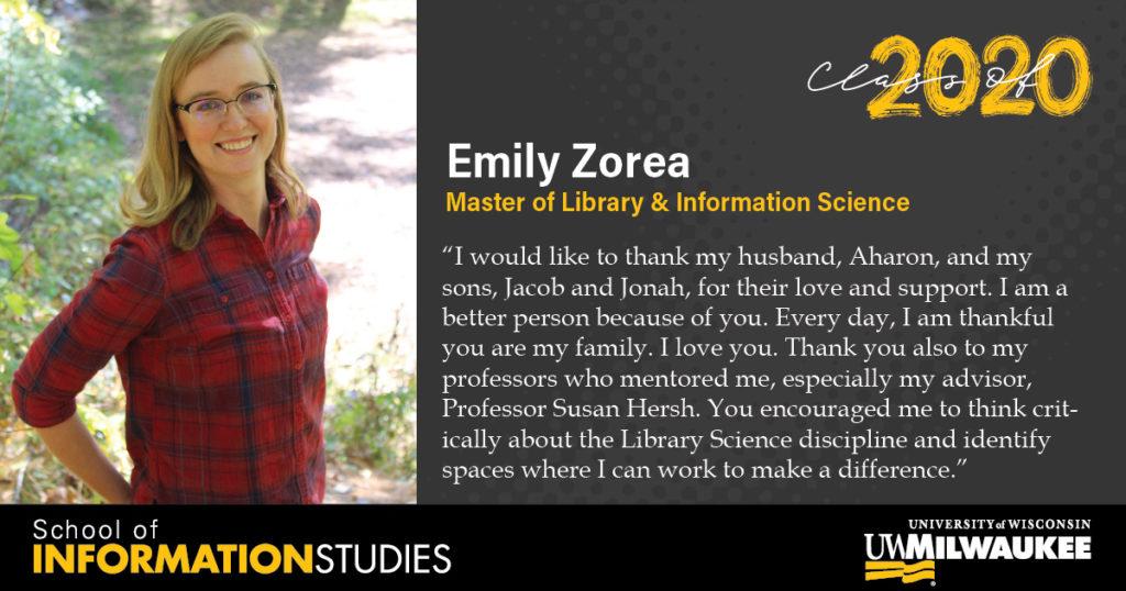 Emily Zorea, MLIS