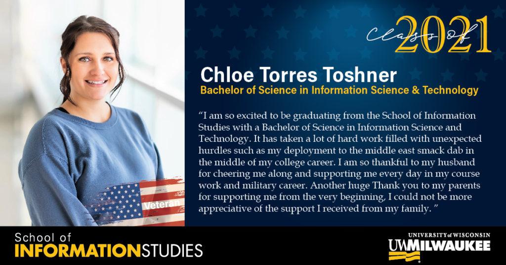 Chloe Torres Toshner, IST Veteran
