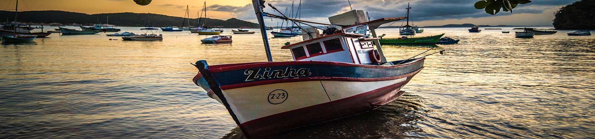 Boat on Beach in Brazil