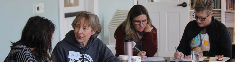 Educators talking and collaborating
