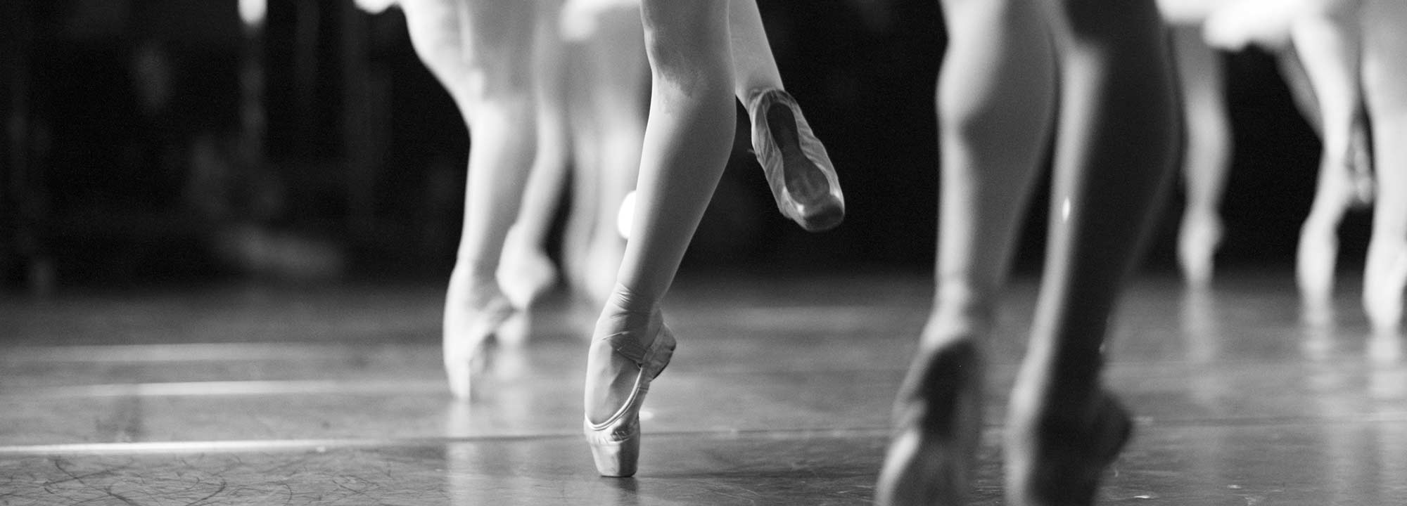 Female ballet dancers legs and feet