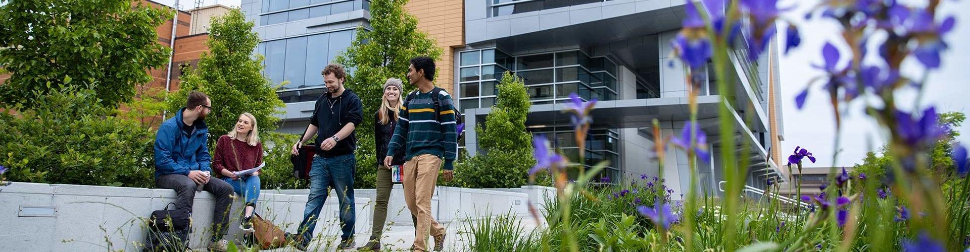 people on UWM campus
