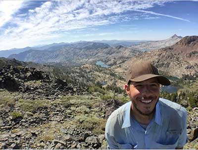 UWM Geosciences graduate student James Amato hiked a portion of the Pacific Crest Trail, which boasts incredible views. Photo courtesy of James Amato.