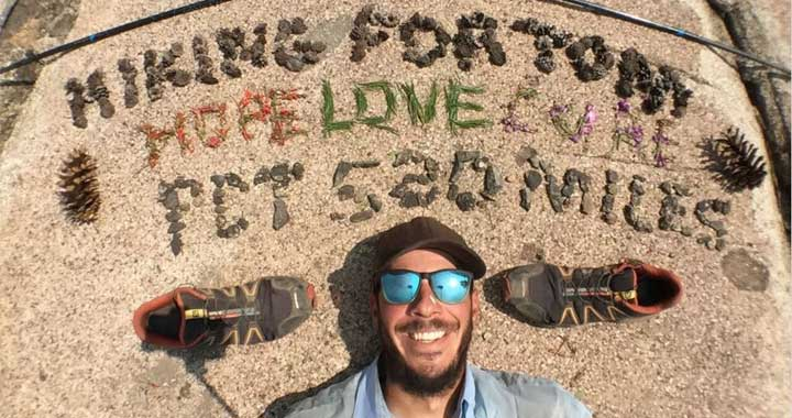 James Amato completed his hike in honor of UWM Geosciences professor Thomas Hooyer.