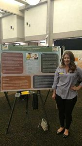 Psychology major Haley Branback presented her research into parental criticism at the UWM Undergraduate Research Symposium.