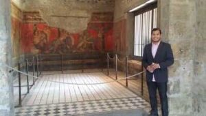 History and Religious Studies double major Taylor Layton stands in the Villa Di Mistieri at Ancient Stabiae. Photo courtesy of Taylor Layton.