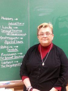 Shorewood High School teacher Debra Schwinn brings in UWM Anthropology guests to talk to her class.