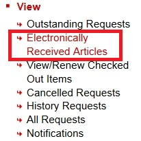 ILLiad how to retrieve an article