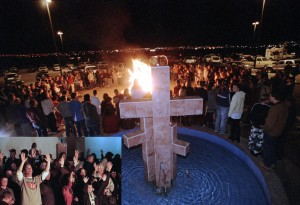 "A burning of ""satanic"" Harry Potter books, ouija boards, and rock music at the Christ Community Church in Alamogordo, New Mexico (2001). After the event, an outpouring of donations was made to the local public library, which used the funds to purchase additional copies."