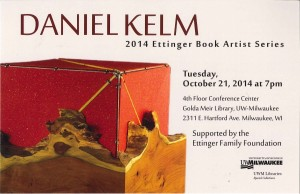 2014 Ettinger Book Artist Series Lecture postcard