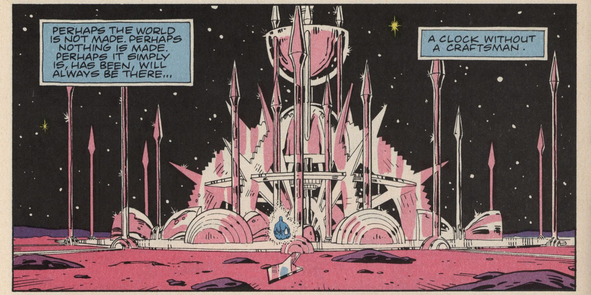 A panel from Watchmen by Alan Moore & Dave Gibbons