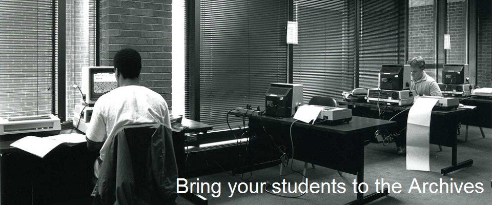 bring your students to the archives