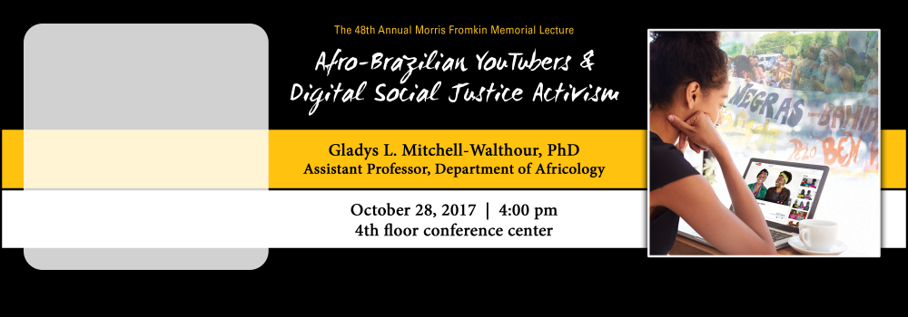 48th Annual Morris Fromkin Lecture | Oct. 26 @ 4pm | 4th floor conference center, Golda Meir Library.