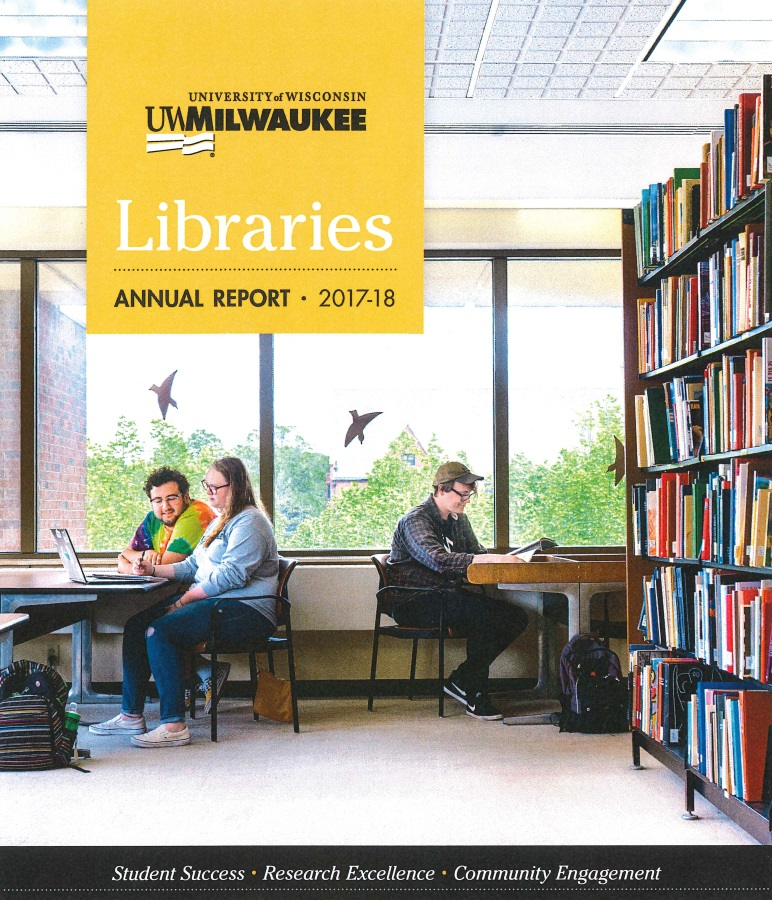Cover of 2017-18 UWM Libraries Annual Report