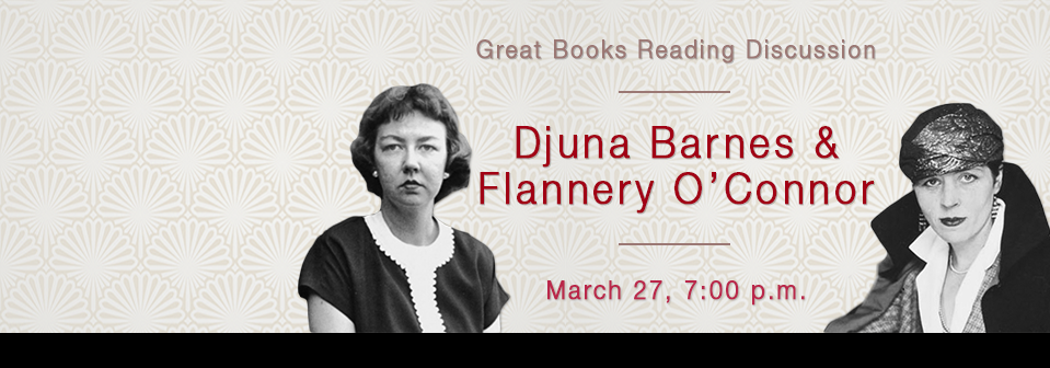 Great Books Discussion | Barnes & O'Connor | March 27, 2018 | 7:00 p.m. | Special Collections, 4th floor Golda Meir Library