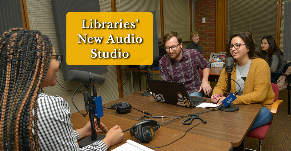 UWM Libraries' New Audio Recording Studio