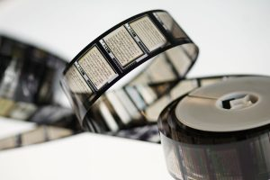 Roll of Microfilm unwound