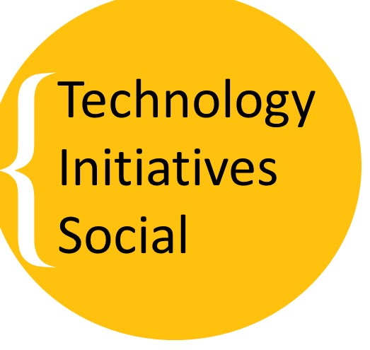 graphic with the text: Technology Initiatives Social