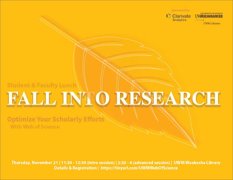 Fall into research graphic