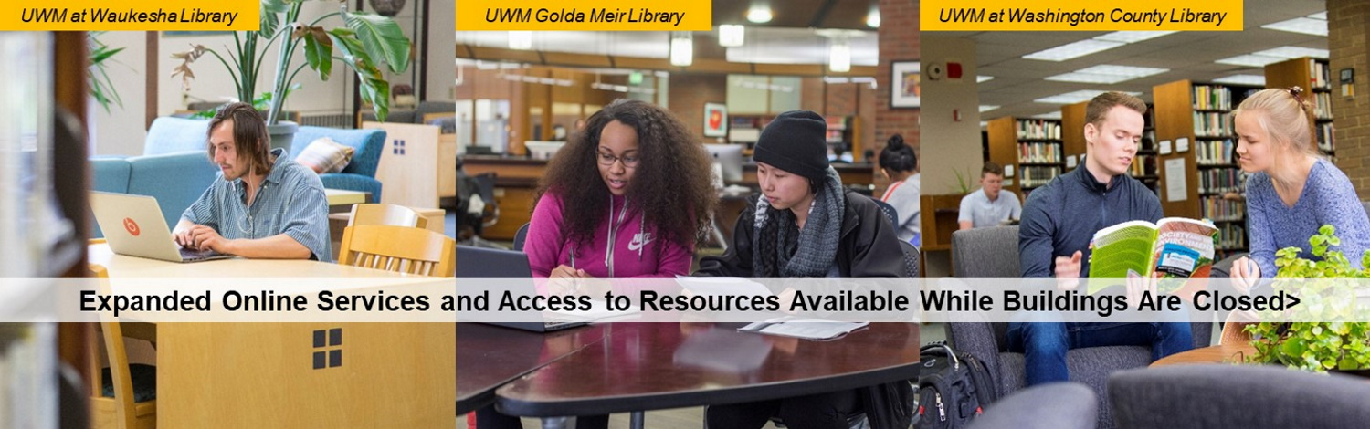 photo with text about online access