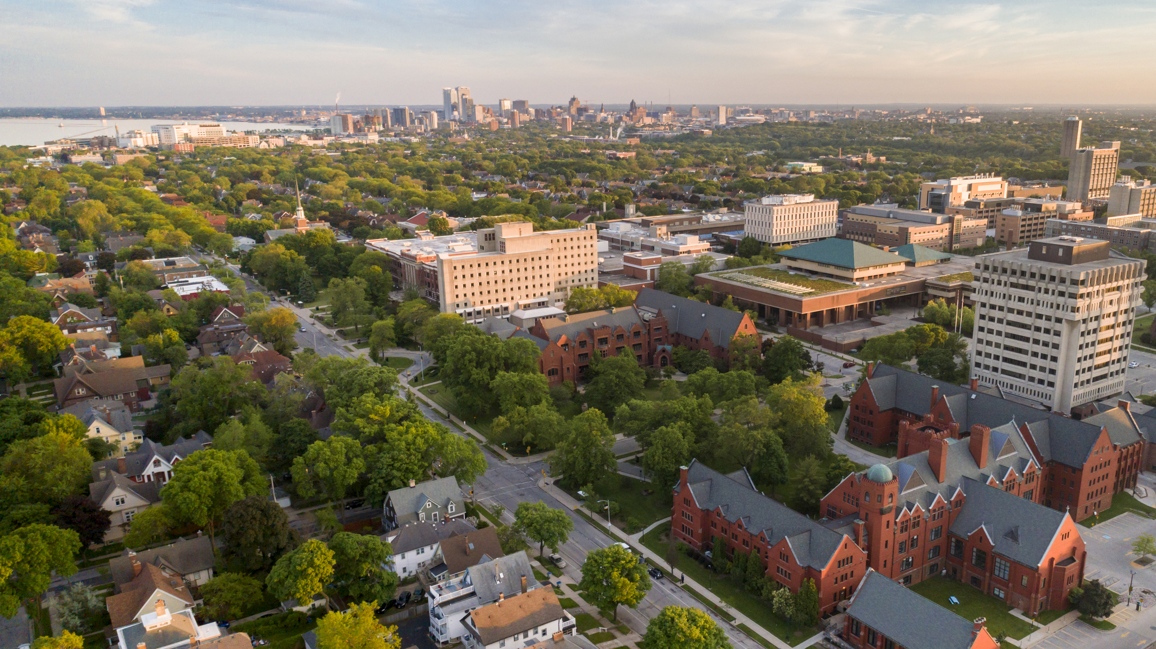 photo of campus and city