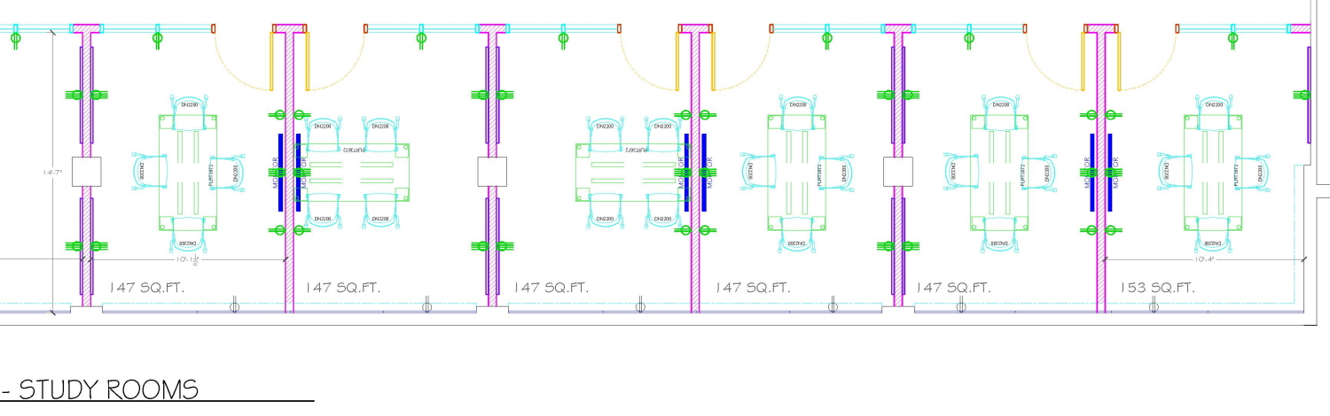 plan of group study rooms