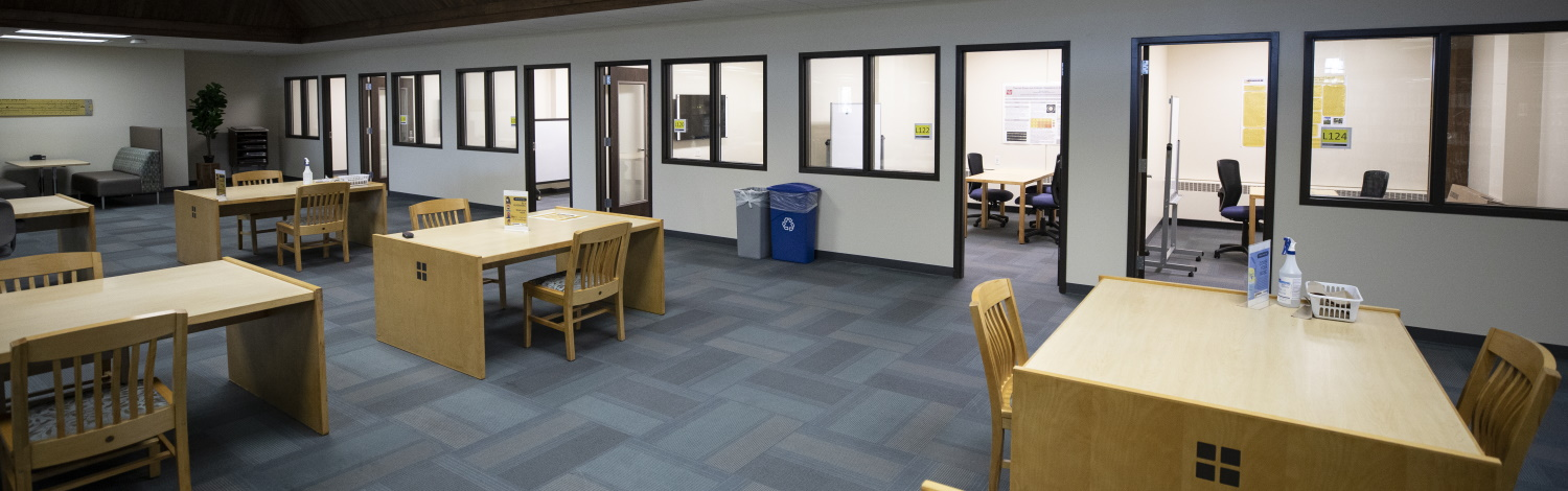 Photo of group study rooms