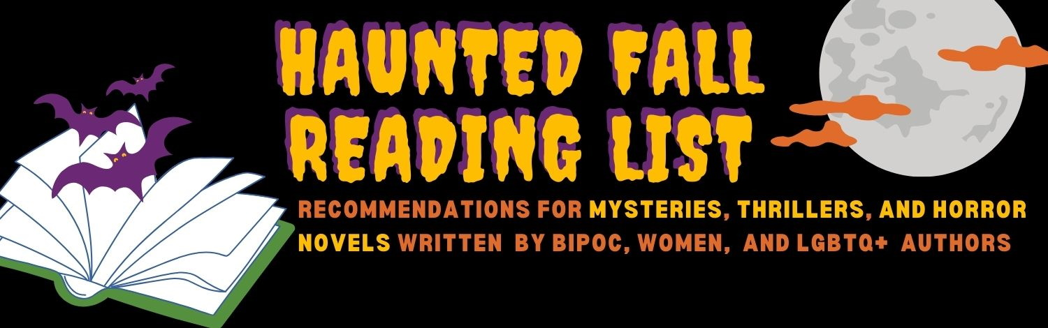 graphic with text that says Haunted Fall Reading List