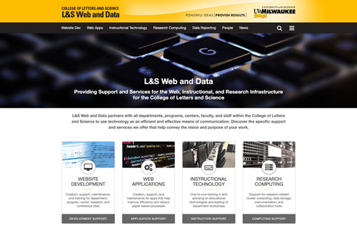 New LS Web and Data website screenshot