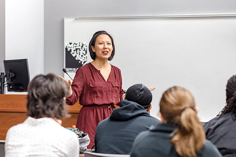 Jacqueline Nguyen teaches MPS students.