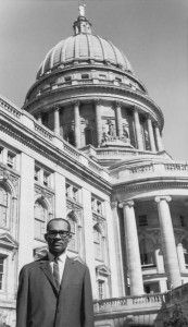 Lloyd Barbee at Wisconsin State Capitol