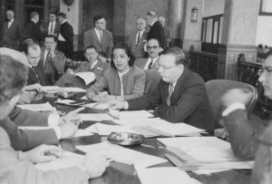 Vel Phillips at Common Council Meeting. Courtesy Wisconsin Historical Society
