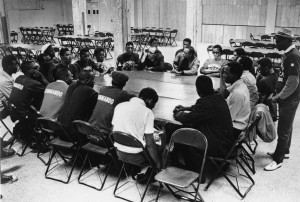 NAACP Youth Council Meeting with James Groppi. Courtesy Wisconsin Historical Society