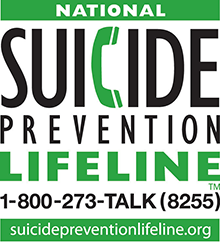 National Suicide Prevention Lifeline logo for 1-800-273-TALK