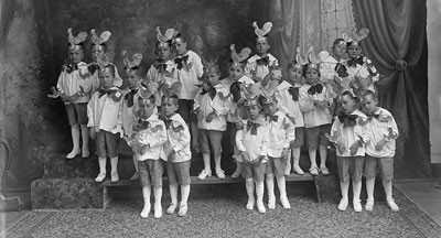 Children in costume for the Basilica Of St. Josaphat School kindergarten show, undated (kw001227 or kw001227-p)