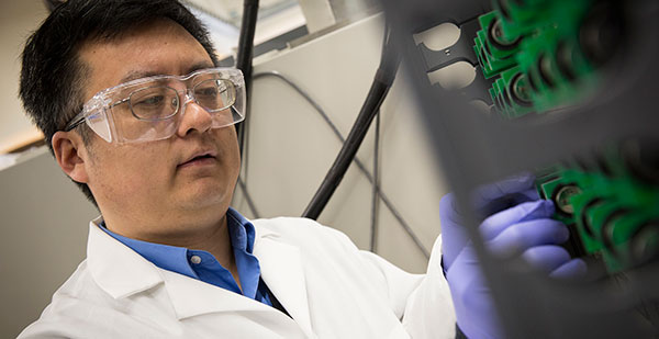 UWM researcher Chris Yingchun Yuan is we're investigating the environmental sustainability of the next generation of lithium-ion batteries. whose manufacture could present environmental challenges.