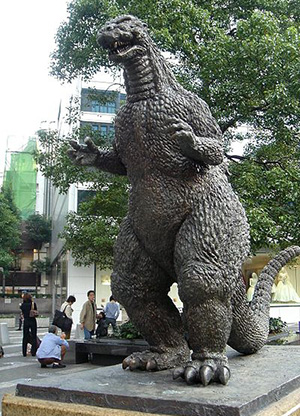 Godzilla's image can be found all around Japan. This statue is in Tokyo.
