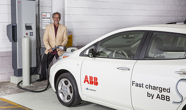Ken Graber, Director Of Media Relations At ABB, Charges The Companyu0027s Nissan  Leaf At