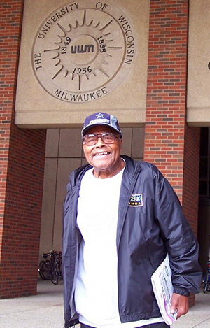 clarence-outside-uwm-library
