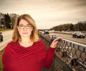 Amy Kalkbrenner's research focuses on traffic-related air pollution and its links to autism.