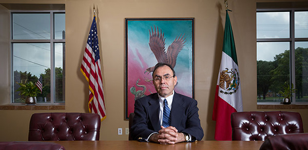 Anthropologist Javier Tapia has been working with the United States and Mexican governments, as well as local nonprofit organizations, to bring a Mexican consulate to Milwaukee to provide services for Wisconsin's growing Hispanic community. (UWM Photo/Troye Fox)