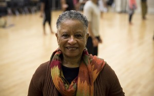 Ferne Caulker Bronson has been researching and teaching African dance for more than 40 years. (UWM Photo/Derek Rickert)