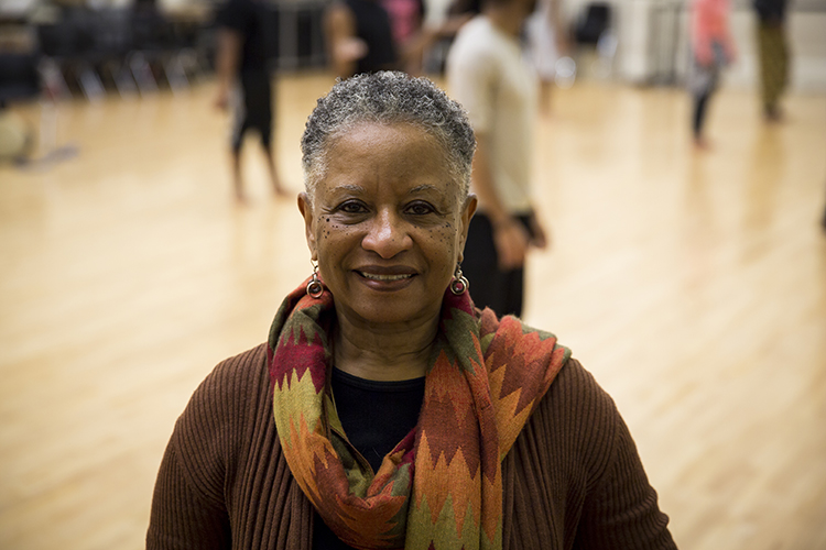 Ferne Caulker Bronson has been researching and teaching African dance for more than 40 years. (UWM Photo/Derek Rickert)