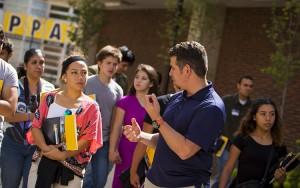 Alberto Maldonado will welcome prospective students and families at the Jan. 16 bilingual Casa Abierta/Open House at UWM. (UWM Photo/Derek Rickert)