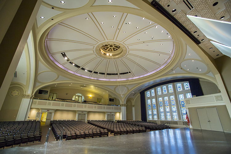 The hall is in the Helene Zelazo Center for the Peforming Arts, which also includes two conference facilities, six warm-up/practice spaces and two dining and/or ballrooms. (UWM Photo/Derek Rickert)